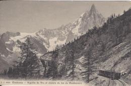 74 CHAMONIX MONT BLANC  TRAIN A CREMAILLERE DU MONTENVERS GLACIER DE LA MER DE GLACE EDITEUR JULLIEN JJ 8836 - Chamonix-Mont-Blanc