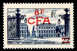 REUNION 1949-52 - Yv. 301 (=FR 822 + Surch) **   Cote= 43,00 EUR - Place Stanislas, à Nancy  ..Réf.FRA29043 - Réunion (1852-1975)