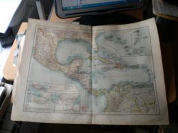 Mittelamerika Und Westindien Volks Und Fanilien Atlas A Shobel Leipzig 1901 Big Map - Mapas Geográficas
