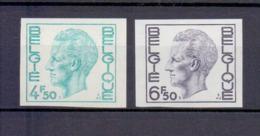 1743/44 Koning Boudewijn Elstrom  Ongetand 1974 Cat:62,50 Euro - Non Dentelés