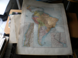 Sudamerika Volks Und Fanilien Atlas A Shobel Leipzig 1901 Big Map - Mapas Geográficas