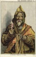 Tibet Thibet, Tibetan Lama With Prayer Wheel (1910s) Mission Postcard - Tibet
