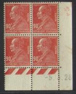 Berthelot  En Bloc De 4 Coin Daté - Pas Cher - 1932-39 Peace
