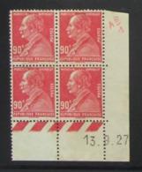 Berthelot  En Bloc De 4 Coin Daté NSG - Pas Cher - 1932-39 Paz