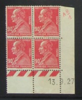Berthelot  En Bloc De 4 Coin Daté NSG - Pas Cher - 1932-39 Frieden