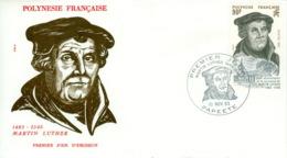 Französisch Polynesien 389 FDC - Célébrités