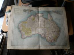 Australien Volks Und Fanilien Atlas A Shobel Leipzig 1901 Big Map - Geographical Maps