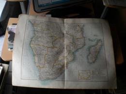 Sudafrika Volks Und Fanilien Atlas A Shobel Leipzig 1901 Big Map - Geographical Maps