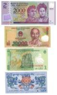 World Lot 4 UNC Polymer Banknotes .PL. - Billetes