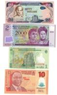 World Lot 4 UNC Polymer Banknotes .PL. - Billets