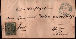 !  Brief Aus Hannover Nach Peine, 1857, MiNr. 9 EF, - Hannover