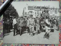 OFFICIERS ALLEMANDS JEEP LIBERATION DE PARIS GUERRE WW2 PHOTO DE PRESSE 24 X 18 Cm PHOTO PRESSE LIBERATION - Guerre, Militaire