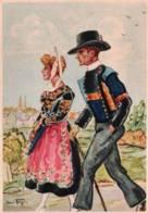 CPSM - ILLUSTRATION YANN TREGOR - Images De BRETAGNE - QUIMPER - Edition Riou-Nédelec - Bretagne