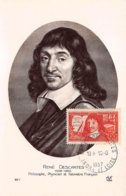 1937 .carte Maximum .france .102091 .rene Descartes .cachet La Haye Descartes . - Maximum Cards