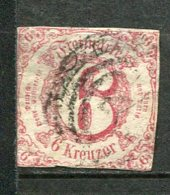 T Et T - Yv. N° 38 Mi. N°22  (o)  6k  Rouge Carminé  Etats Du Sud Cote  50 Euro  D 2 Scans - Thurn And Taxis
