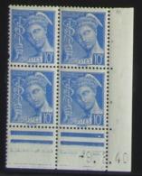 Mercure En Bloc De 4 Coin Daté - Pas Cher - 1932-39 Peace