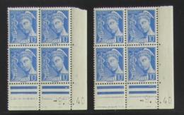 Mercure En Blocs De 4 Coin Daté - Pas Cher - 1932-39 Peace
