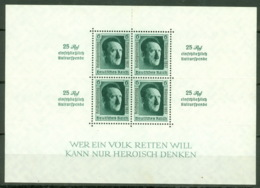 Deutsches Reich Block 11 ** Postfrisch Durchstich Winzig Gelöst - Blocks & Kleinbögen