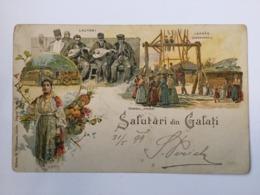 AK   ROMANIA  GALATA   GALATI    LITHO   1899. - Romania