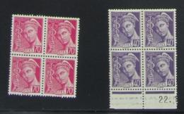 Mercure X 2 Blocs De 4  - Pas Cher - 1932-39 Peace