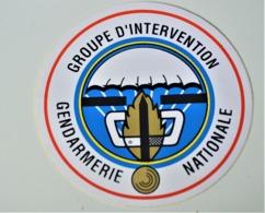 Rare Autocollant Groupement D'Intervention Gendarmerie Nationale GIGN - Militaria