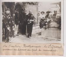 CIMETIÈRE MONTPARNASSE LE CT GUESNET PIED DU MONUMENT  18*13CM Maurice-Louis BRANGER PARÍS (1874-1950) - Lieux
