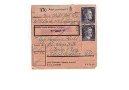 KZ KL Buchenwald - Außenlager Ellrich-Juliushütte - Arbeitslager BIII - Paketkarte Von 1944 - SELTEN - Storia Postale