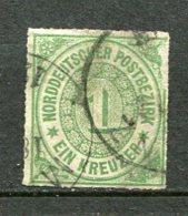 NORD -  Yv. N° 7 MI. N° 7  Percés En Ligne (o)  1k  Vert   Cote   10 Euro  BE   2 Scans - North German Conf.