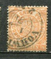 NORD -  Yv. N° 14 MI. N° 15  Dentelé (o)  1/2g   Orange   Cote   2 Euro  BE   2 Scans - Norddeutscher Postbezirk