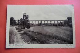 CPA CARTE PHOTO 36 INDRE LE BLANC. Le Viaduc. 1936. - Le Blanc
