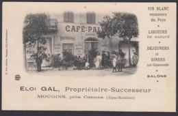 CPA -  06,  MOUGINS,  Cafe Paix, Eloi Gal, Propritaire, Pres Cannes - Cannes
