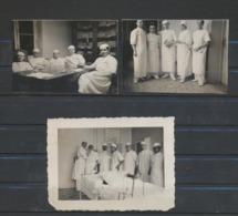 Maternité à Liège 1935  3 Photos Originales - Personnes Anonymes