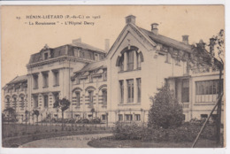 62 HENIN LIETARD En 1926 La Renaissance L' Hôpital Darcy - Henin-Beaumont