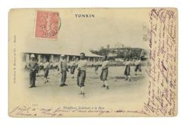 CPA VIET-NAM TONKIN TIRAILLEURS TONKINOIS A LA BOXE - Vietnam