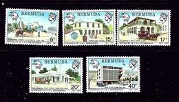 Bermuda 350-54 MNH 1977 Centenary Of UPU Membership - Bermuda
