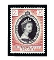 Turks And Caicos  118 MNH 1953 QEII Coronation - Turks And Caicos