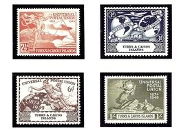Turks And Caicos 101-04 MNH 1949 75th Anniversary Of UPU - Turks And Caicos