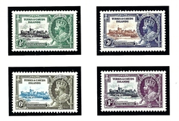 Turks And Caicos 71-74 MNH 1935 KGV Silver Jubilee - Turks And Caicos