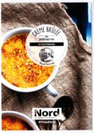 Carte (Dos Totalement Imprimé) Crème Brulée Au Potimaron Au Pavé De Bleu Du Quesnoy, Nord, David Lievrouw - Recettes (cuisine)