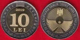 "Moldova 10 Lei 2019 ""Language And Latin Writing"" BiMetallic UNC - Moldova"