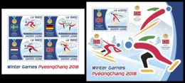 SIERRA LEONE 2018 - Olympic Games In PyeongChang - YT CV=39 €, 7801-4 + BF1408 - Winter 2018: Pyeongchang