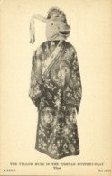 Tibet Thibet, The Yellow Mule In The Tibetan Mystery-Play (1930s) Postcard - Tibet