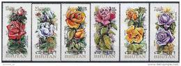 1973 BHOUTAN 407-10+ PA 123-24** Roses - Bhoutan