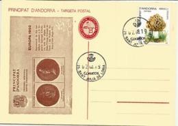 Vigueria Episcopal  Andorra, Carte Annoncant Emission Feuillet Pour Europa 1980, Oblitération De Sant Julia De Loria - Andorre Espagnol