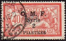 Syrie Obl. N°  63 - Surcharge  2pi Sur 40c Orange Et Vert-bleu Merson - Oblitérés