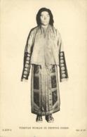 Tibet Thibet, Native Tibetan Woman In Festive Dress (1930s) Postcard - Tibet