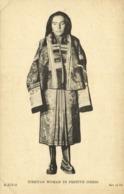 Tibet Thibet, Native Tibetan Woman In Festive Dress (1930s) Postcard (2) - Tibet