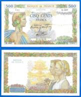 France 500 Francs 1941 16 Janivier La Paix Serie N 1937 Que Prix + Port Frcs Frc Europe Paypal Bitcoin OK - 1871-1952 Gedurende De XXste In Omloop