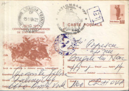 Romania - Postal Stationery Postcard 1977 -The Centenary Of The State Independence Of Romania 1877-1977,special Stamping - Events & Commemorations