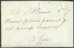 LAC D'ORCHIES (près De Tournay) Le 13 Mai 1774 Vers Ypres. Document écrit Par Le Comte Vilain De Gand à La Princesse D'I - 1714-1794 (Austrian Netherlands)